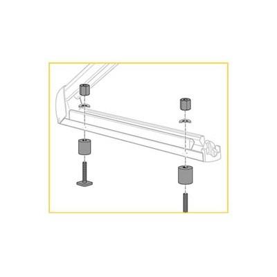 Adaptační sada pro nosič lyží (hliníkové nosiče)