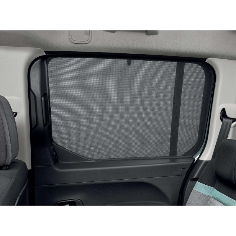 Sluneční clony bočních oken Peugeot Rifter, Citroën Berlingo (K9), stahovací okna
