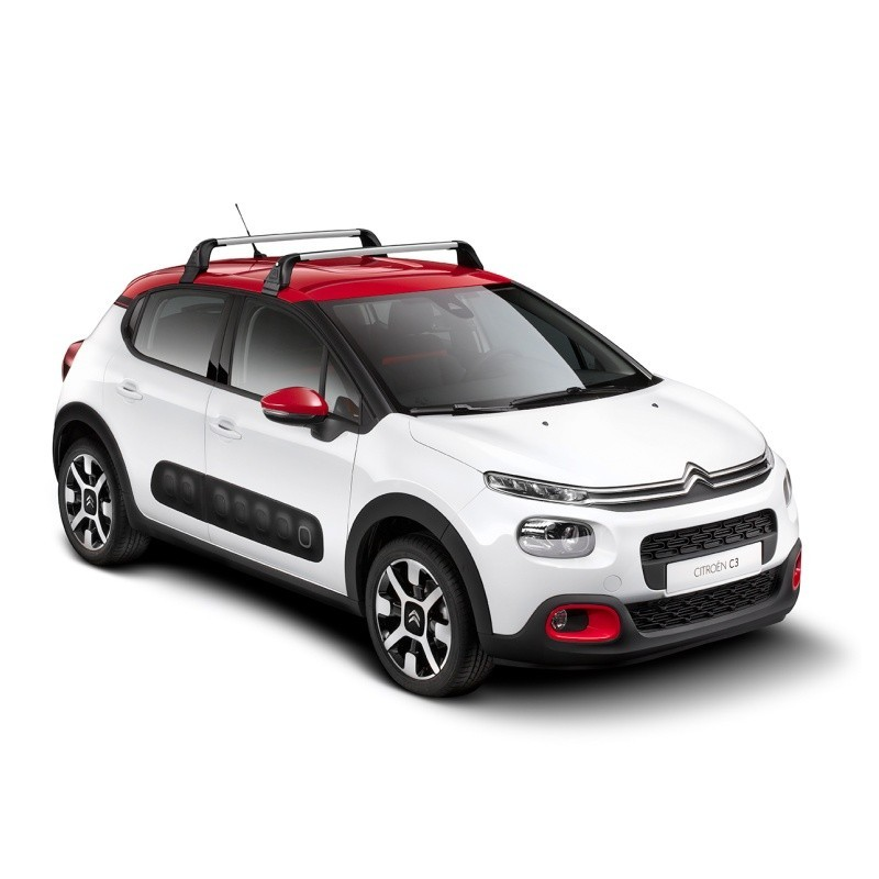Serie di 2 barre del tetto trasversali Citroën C3