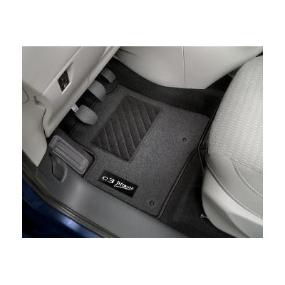 Set of needle-pile floor mats Citroën C3 Picasso