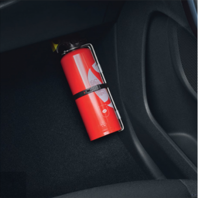 Fire extinguisher with strap