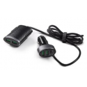 12-V charger with 2 frong USB and 2 rear USB