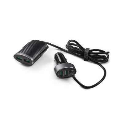 Nabíjačka 12 V s 2 USB vpredu a 2 USB vzadu