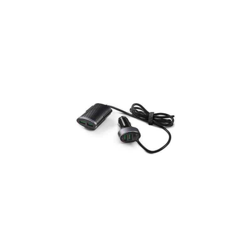 Nabíječka 12 V se 2 USB vpředu a 2 USB vzadu