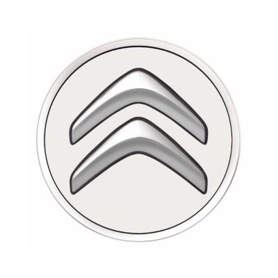 Sada 4 stredových krytiek Citroën - biela BANQUISE
