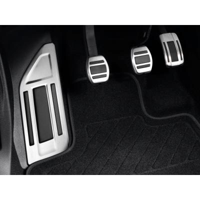 Sada hliníkových šlapek pedálů a opěry chodidla pro MANUÁLNÍ převodovku Citroën C5 Aircross, DS7 Crossback