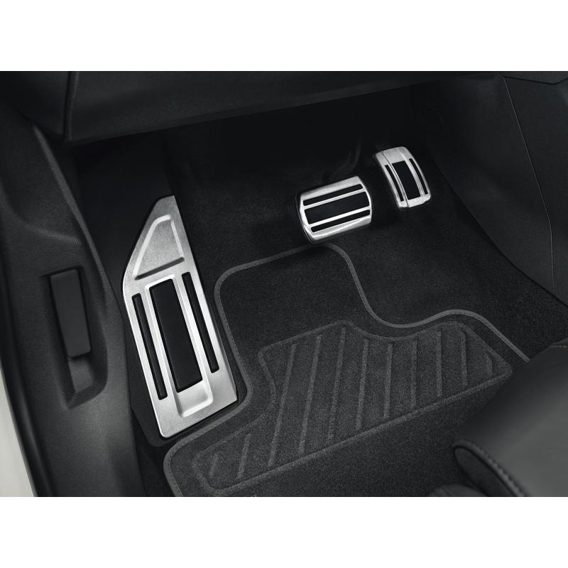 Kit pedali e poggiapiedi in alluminio per cambio AUTOMATICO Citroën C5 Aircross, DS7 Crossback