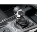 Gear lever gnob BVM5 black leather and chrome Citroën