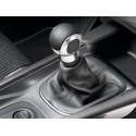Pomo de palanca de cambios CVM5 cuero negro y cromo Citroën