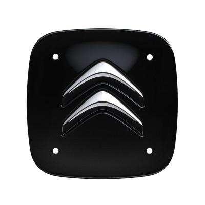 Sada 4 čiernych hranatých stredových krytiek Citroën