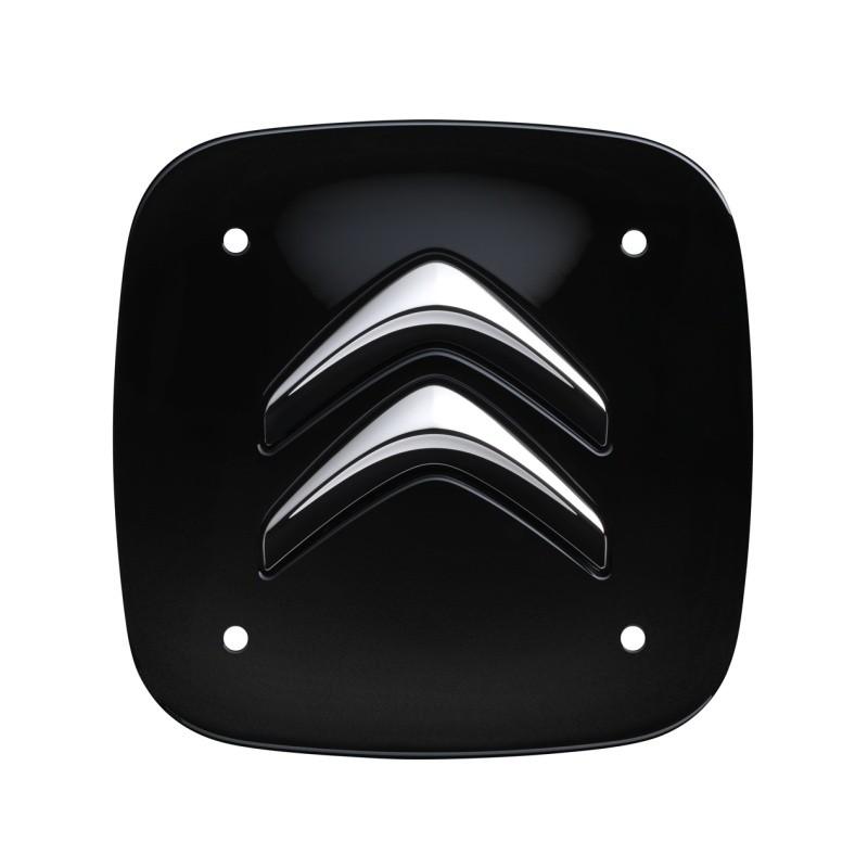 Set of 4 black square center caps Citroën