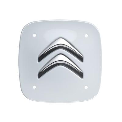 Sada 4 bielych hranatých stredových krytiek Citroën