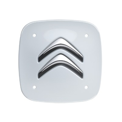 Set of 4 white square center caps Citroën