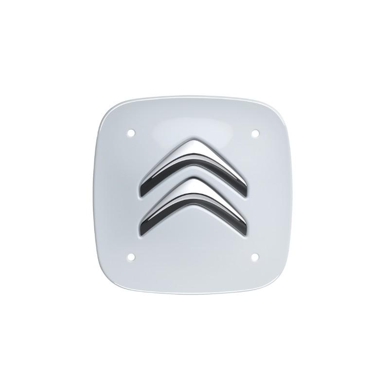 Set of 4 white square center caps Citroën