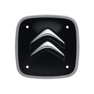 Set of 4 black and silver square center caps Citroën