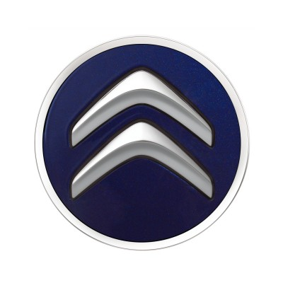 Set of 4 Center caps Citroën - blue INFINI