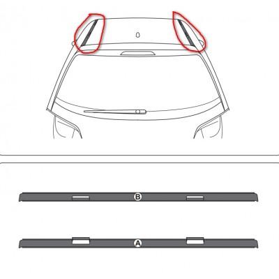 Juego de 2 embellecedores de techo Citroën DS 3