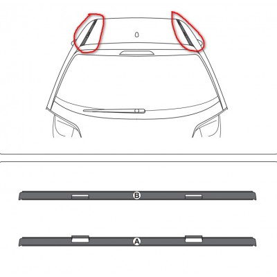 Súprava 2 ozdobných rámov strechy Citroën DS 3
