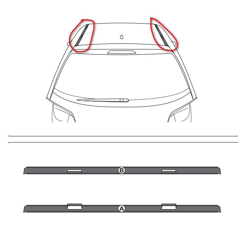 Set of 2 roof trims Citroën DS 3