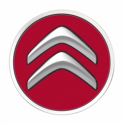 Juego de 4 embellecedores centrales de rueda Citroën - rojo ADEN