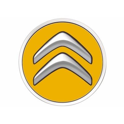 Juego de 4 embellecedores centrales de rueda Citroën - amarillo PEGASE