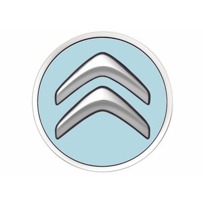 Juego de 4 embellecedores centrales de rueda Citroën - azul BOTICELLI