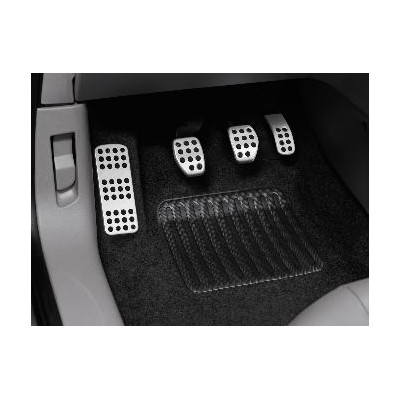 Aluminium pedals and footrest kit for MANUAL gearbox Citroën C3