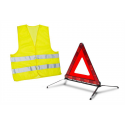 Warning triangle kit and safety vest