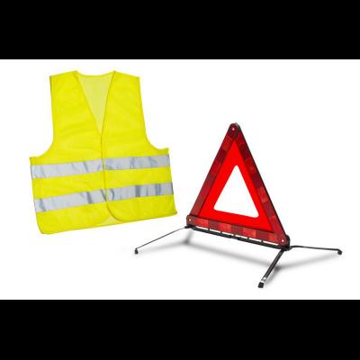 Kit triángulo de señalización y chaleco de seguridad