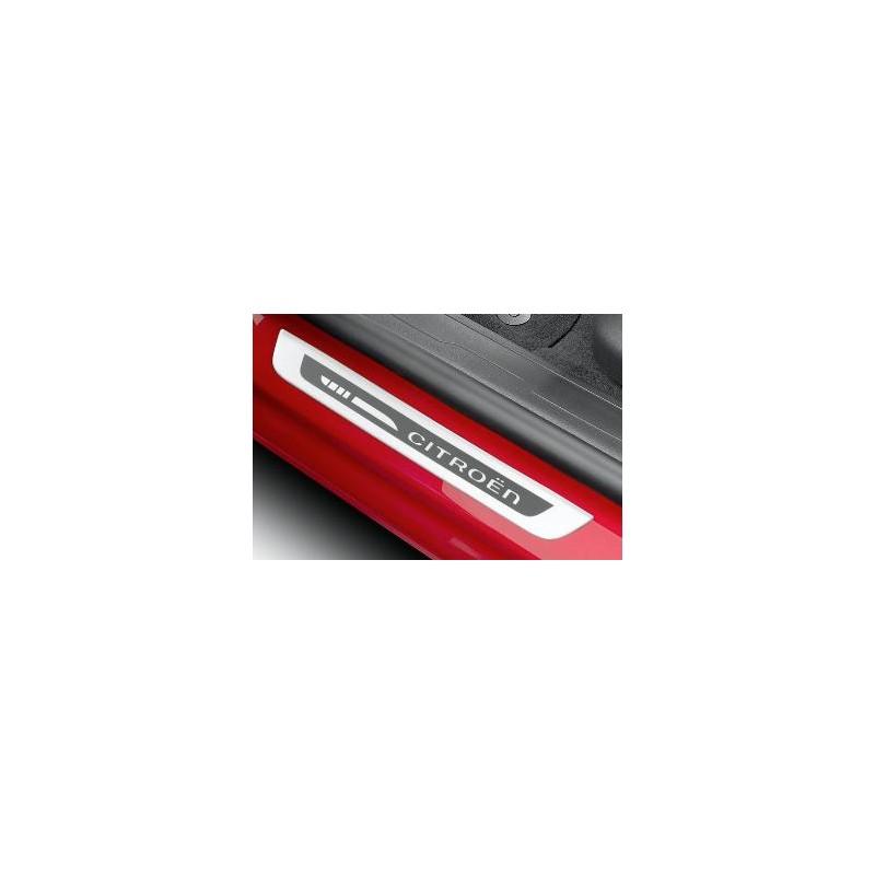 Chrániče prahů předních dveří kartáčový hliník Citroën
