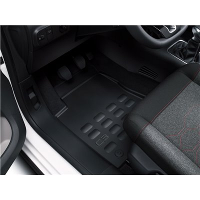 Set of rubber floor mats for RHD Citroën C3